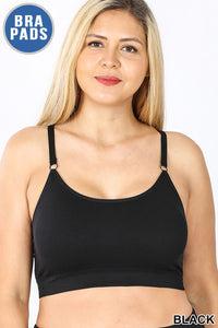 Cross Back Plus Bralette BLK