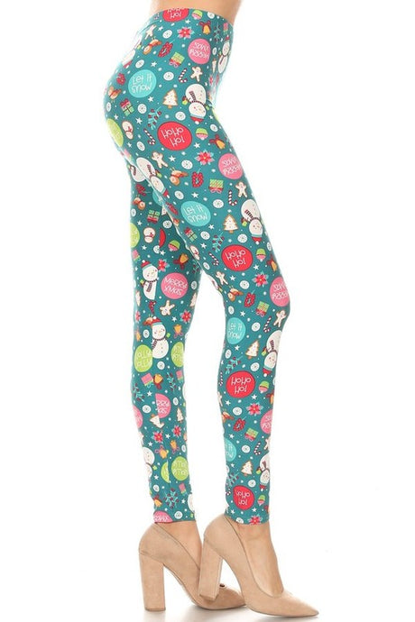 Candyland Holiday Leggings O/S
