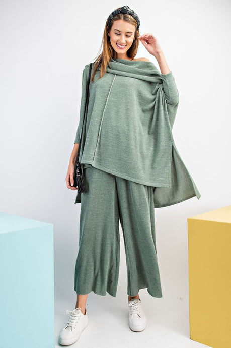 Diverse Comfy Palazzo Olive