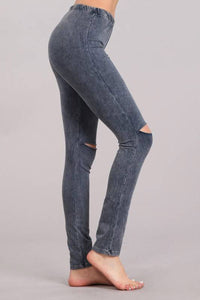 Edgy Mermaid Leggings Blue Grey
