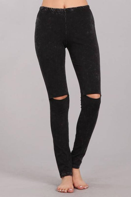 Edgy Mermaid Leggings Black