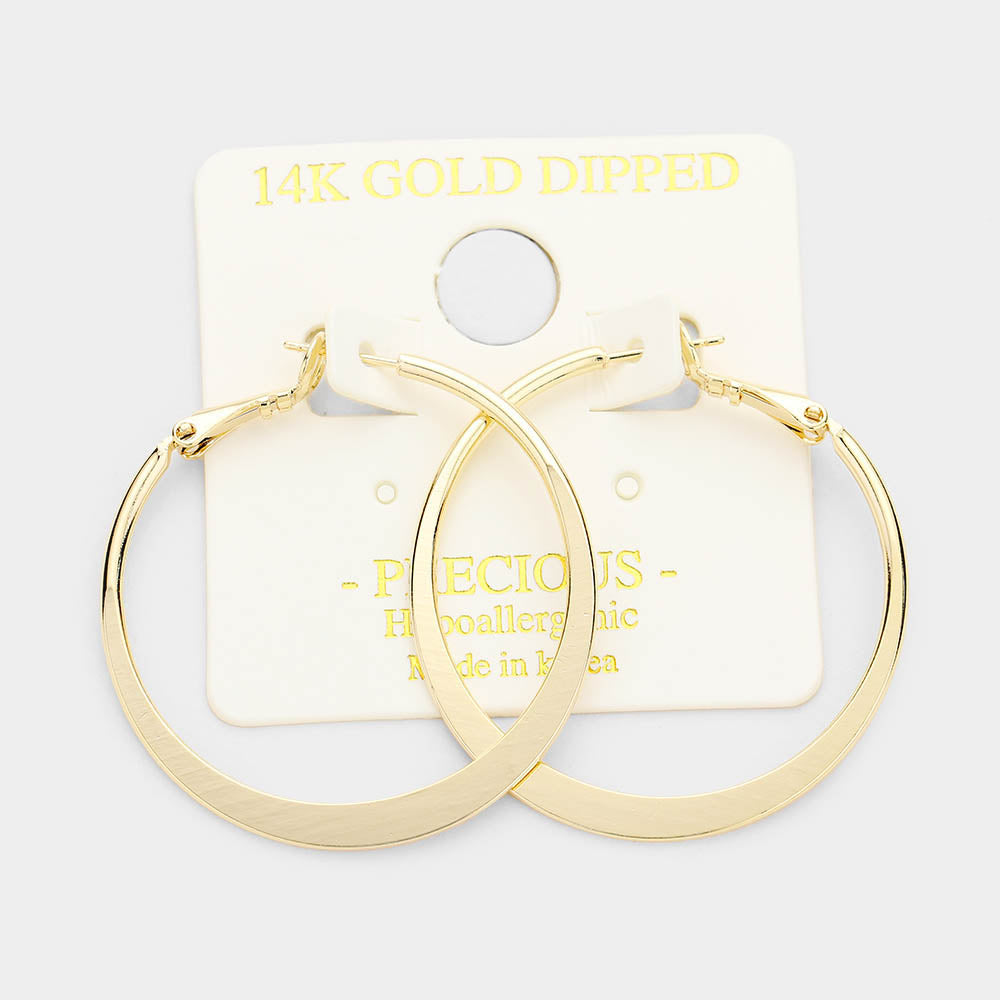 14K Dipped Hoops Gold Large
