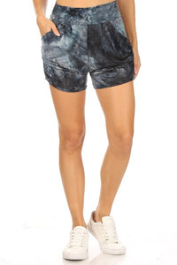 Melted Wax High Waist Shorts