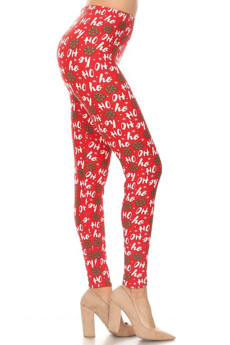 Ho Ho Ho Leggings O/S