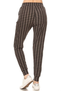 Neutral Houndstooth Joggers