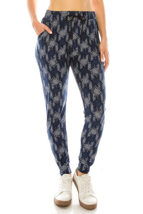 Houndstooth Joggers
