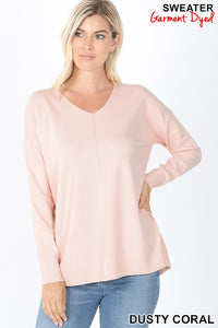 Just Enough Long-Sleeve Dusty Coral