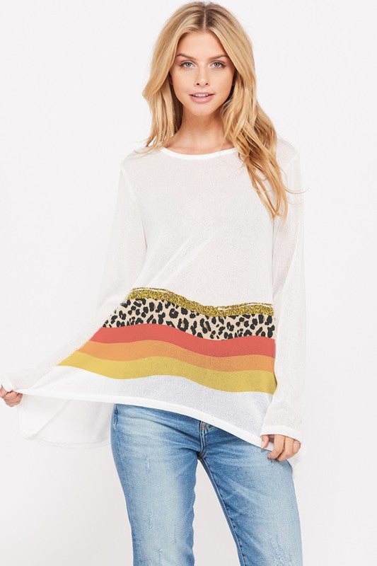 Leopard Wave Top