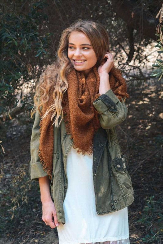 MO's Blanket Scarf Camel