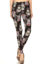 Sweet Sugar Skull Leggings O/S