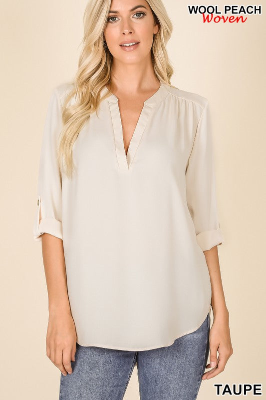 Angie's Fav Top Taupe