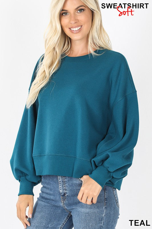 Fall Affair Sweatshirt Teal