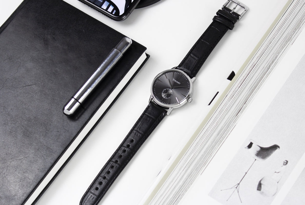 Tordney Watch: Mono, Warm Grey/Black