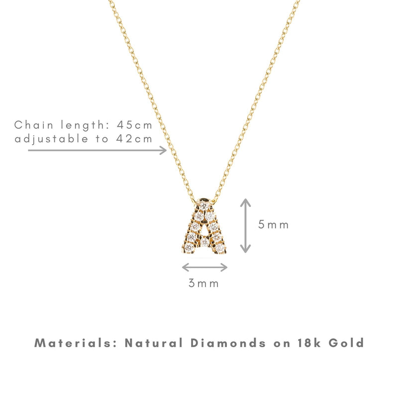Shine, 18-karat Yellow Gold Necklace with Diamond Pendant - A