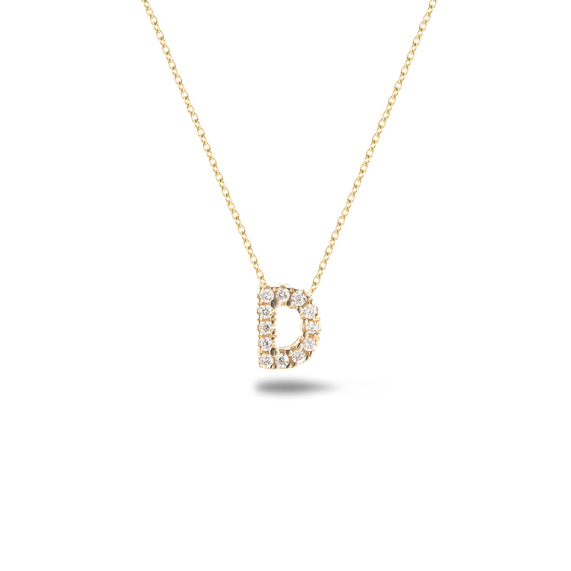 Shine, 18-karat Yellow Gold Necklace with Diamond Pendant - D