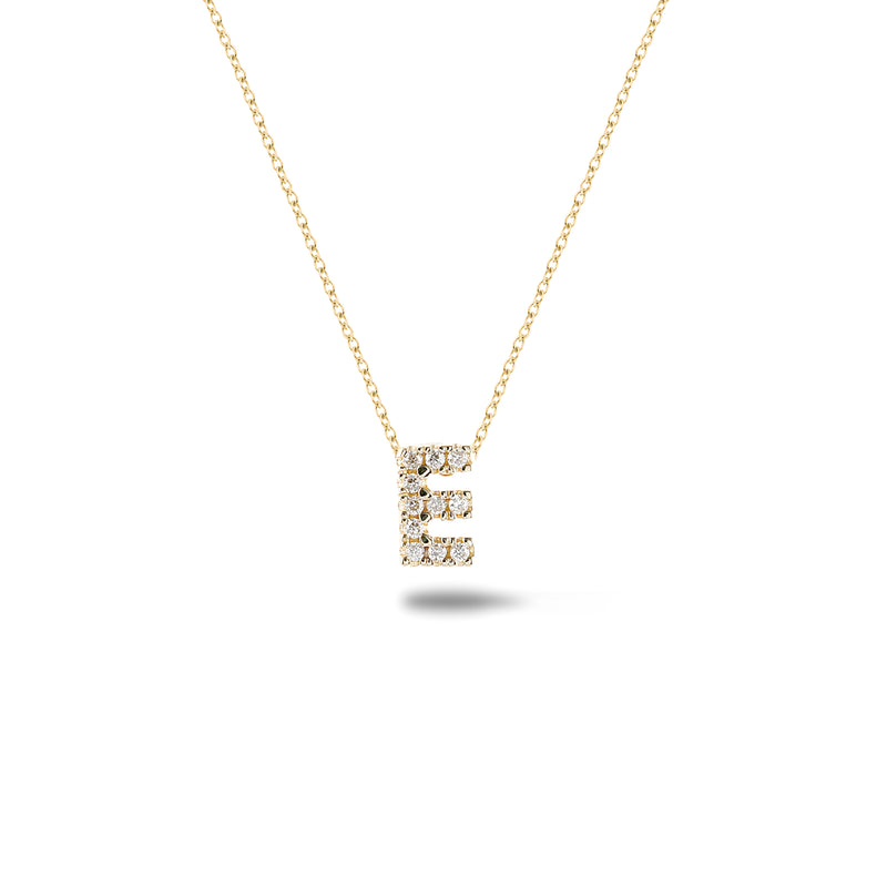 Shine, 18-karat Yellow Gold Necklace with Diamond Pendant - E