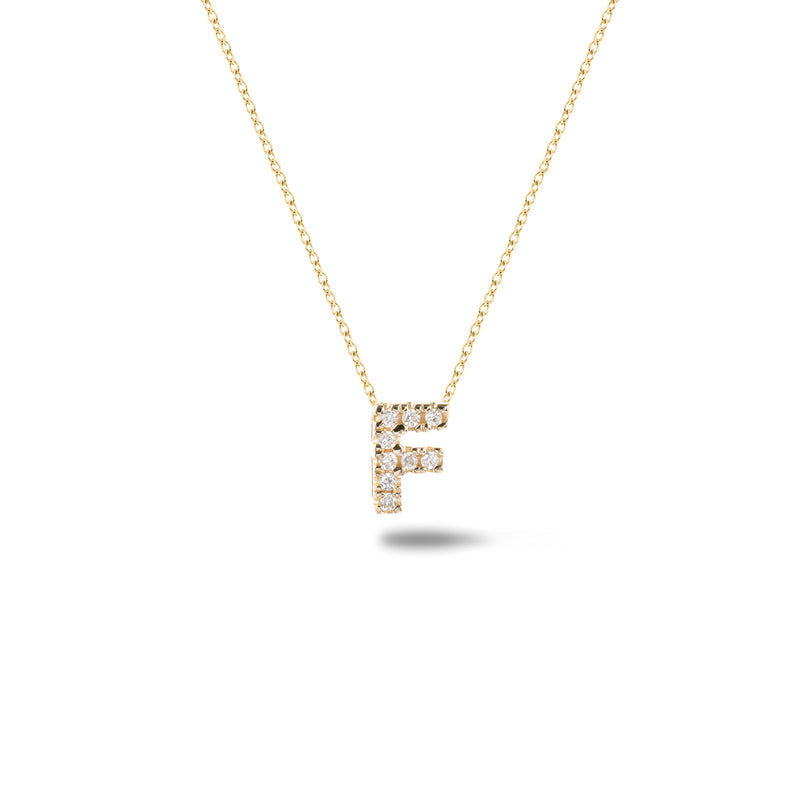 Shine, 18-karat Yellow Gold Necklace with Diamond Pendant - F