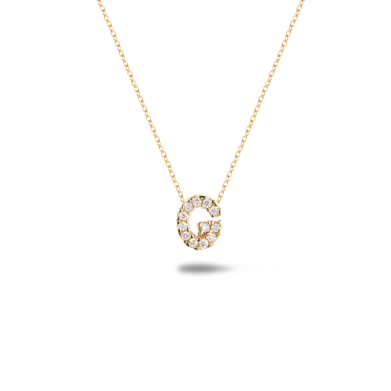 Shine, 18-karat Yellow Gold Necklace with Diamond Pendant - G