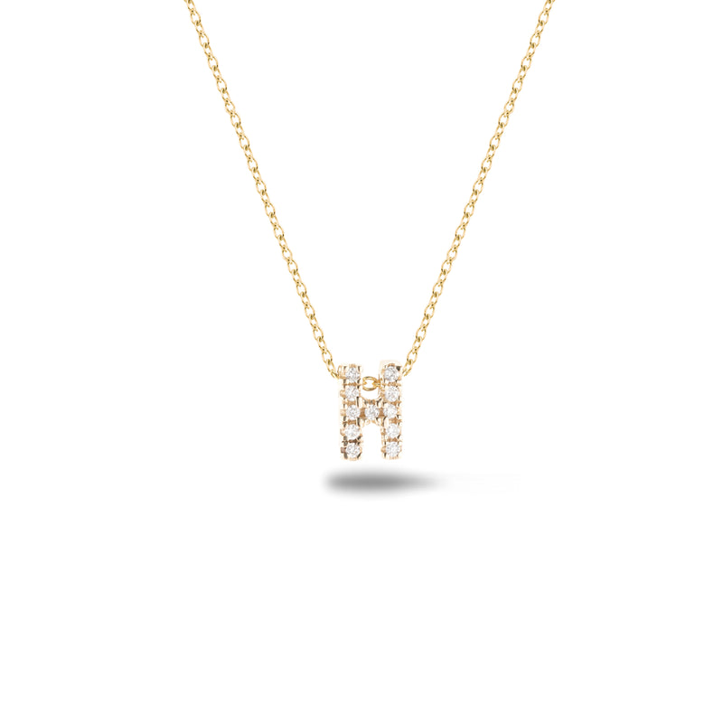 Shine, 18-karat Yellow Gold Necklace with Diamond Pendant - H