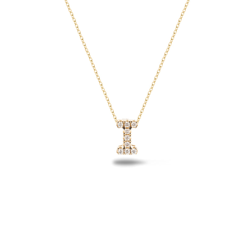 Shine, 18-karat Yellow Gold Necklace with Diamond Pendant - I