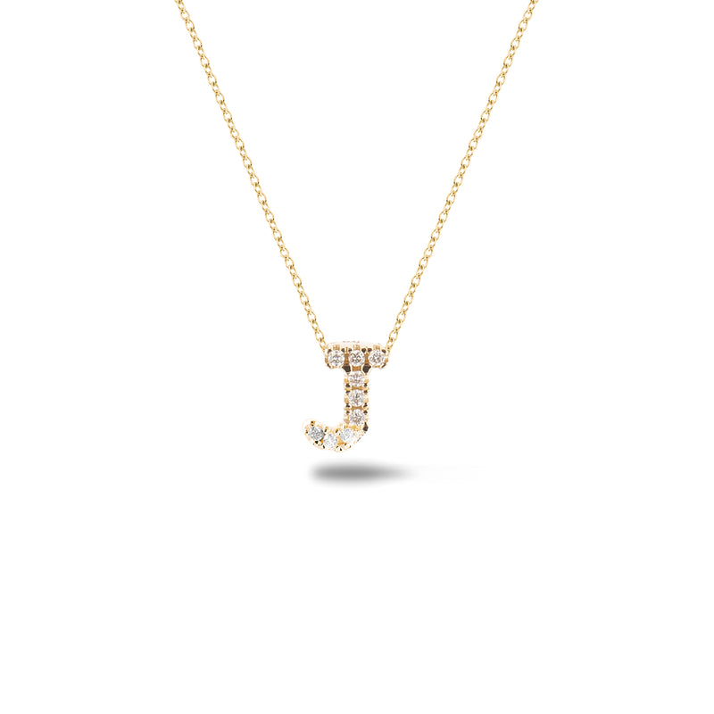 Shine, 18-karat Yellow Gold Necklace with Diamond Pendant - J