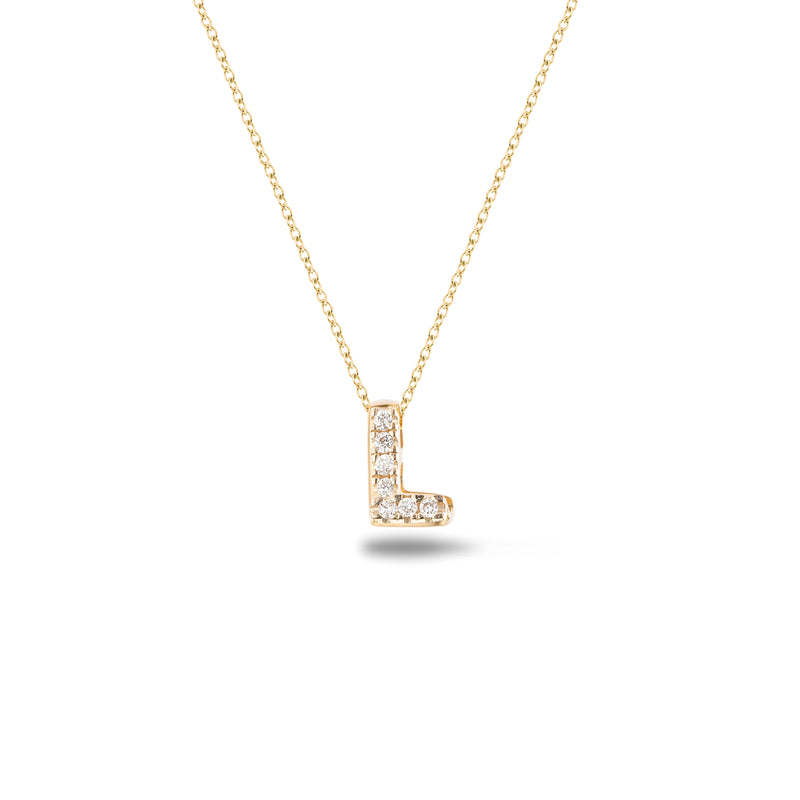 Shine, 18-karat Yellow Gold Necklace with Diamond Pendant - L
