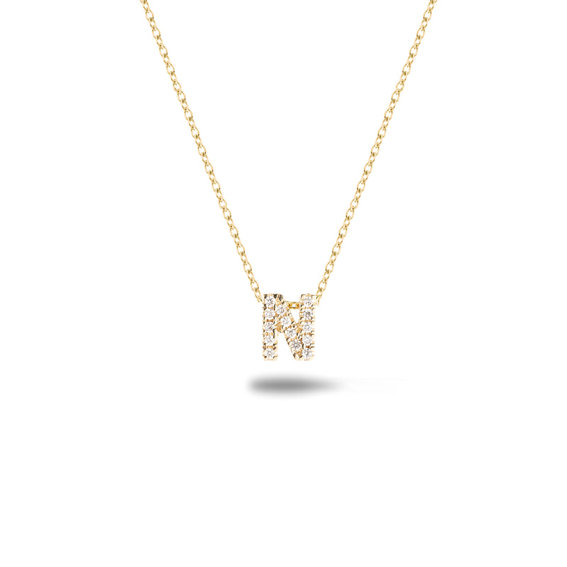 Shine, 18-karat Yellow Gold Necklace with Diamond Pendant - N