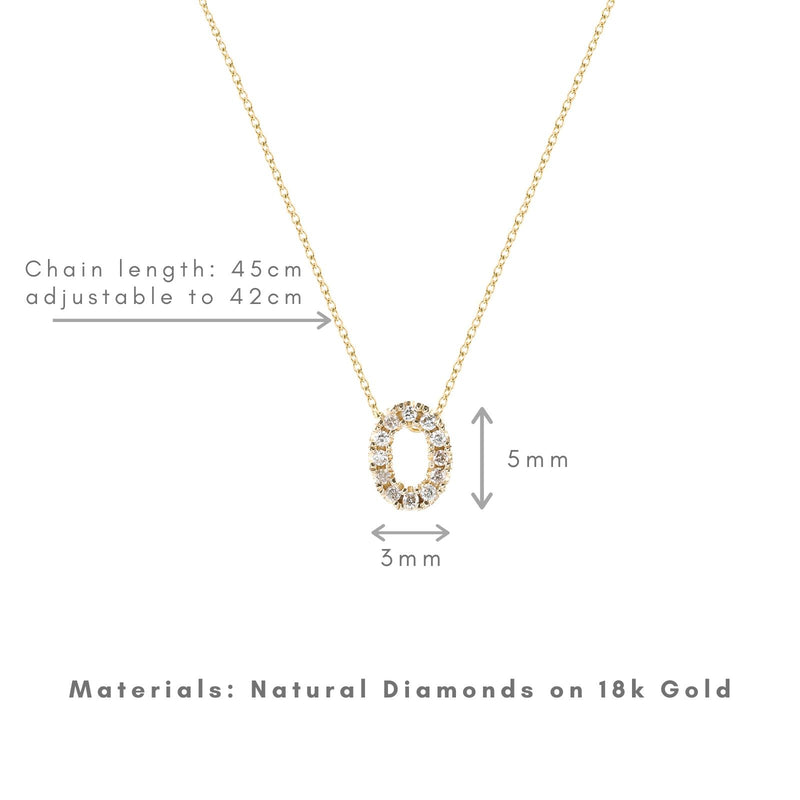 Shine, 18-karat Yellow Gold Necklace with Diamond Pendant - O