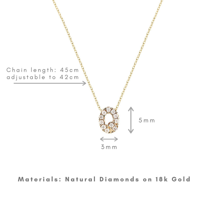 Shine, 18-karat Yellow Gold Necklace with Diamond Pendant - Q