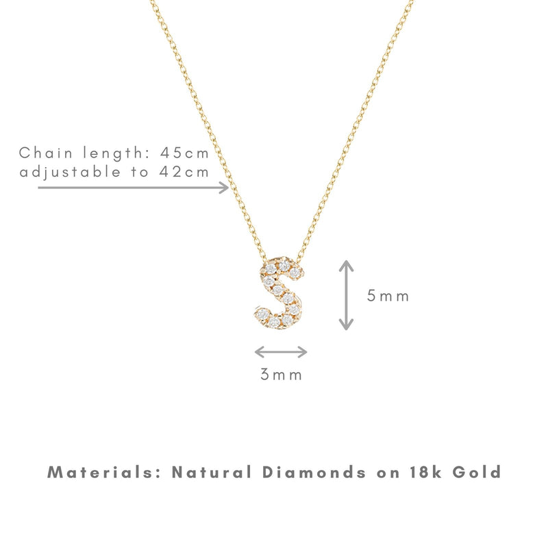 Shine, 18-karat Yellow Gold Necklace with Diamond Pendant - S