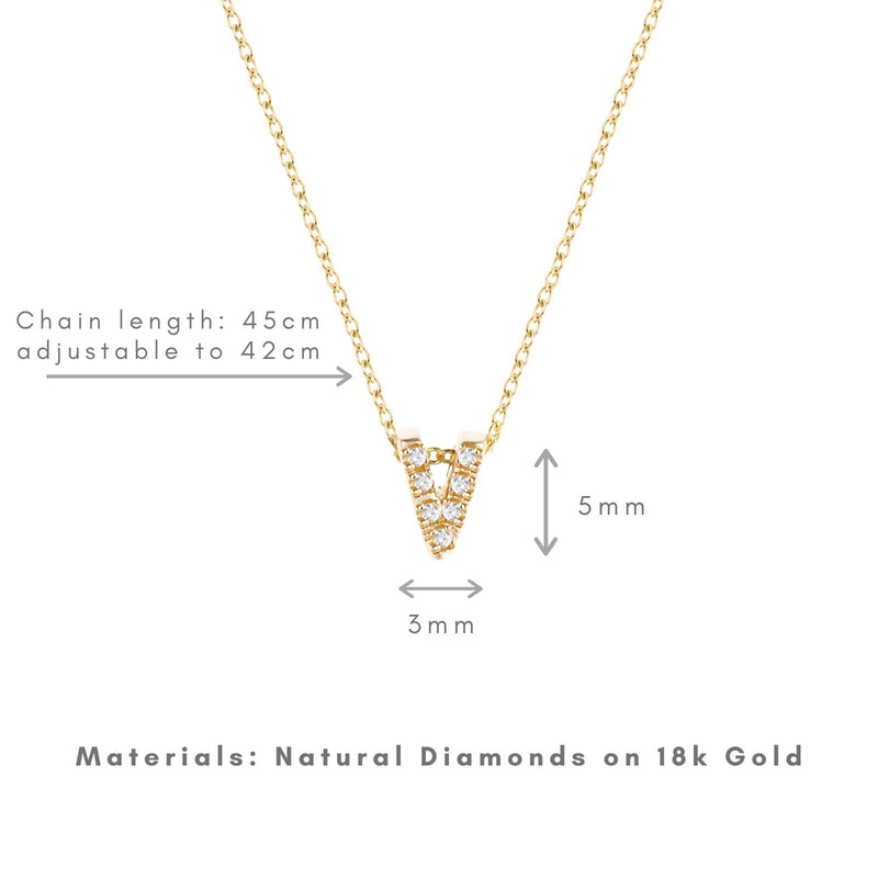 Shine, 18-karat Yellow Gold Necklace with Diamond Pendant - V