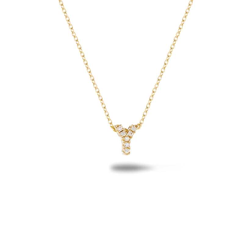 Shine, 18-karat Yellow Gold Necklace with Diamond Pendant - Y