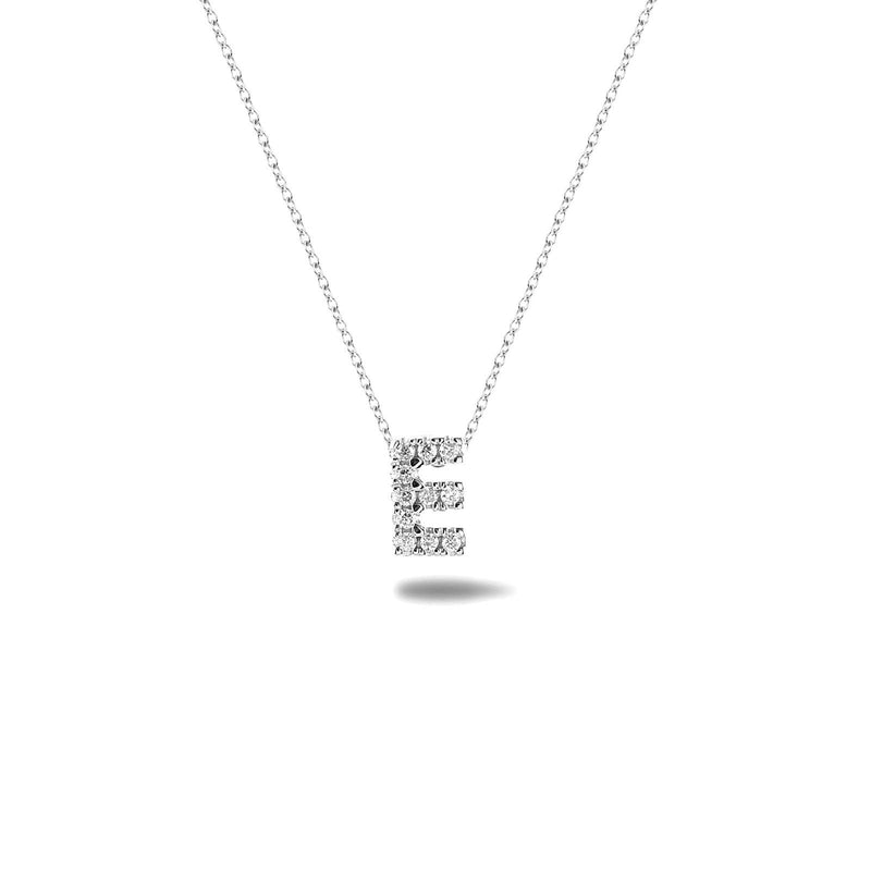 Bright, 18-karat White Gold Necklace with Diamond Pendant - E