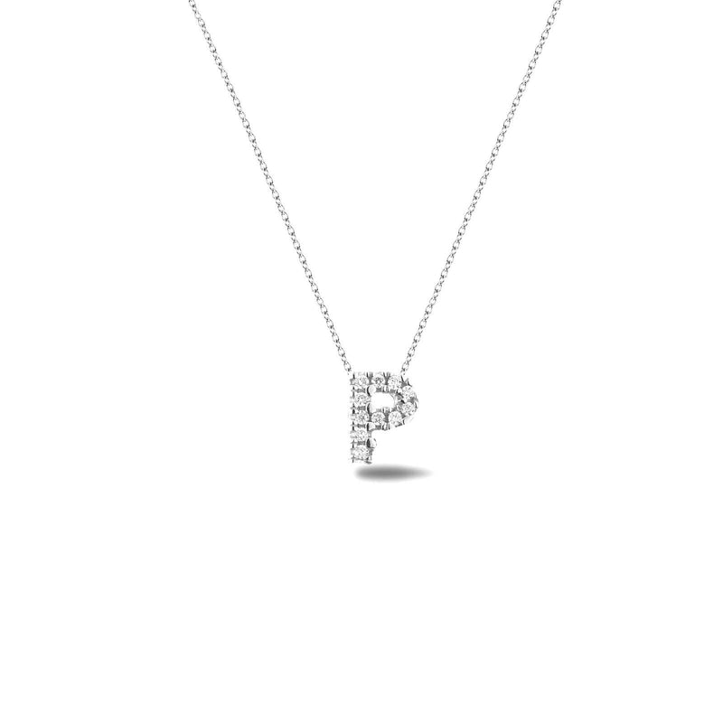 Bright, 18-karat White Gold Necklace with Diamond Pendant - P