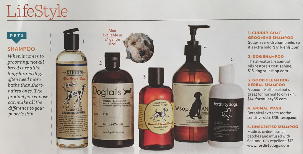 House Beautiful Dogtails Dog Shampoo Feature