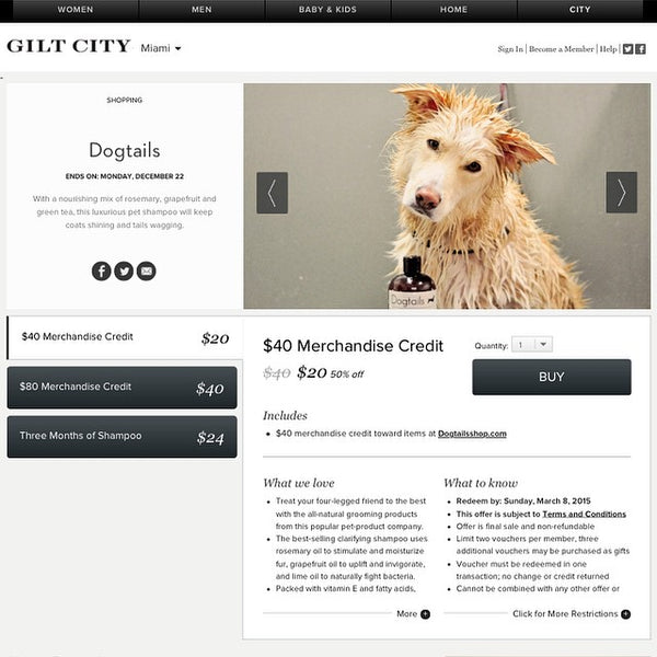 Dogtails on Gilt City Miami