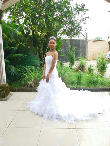 Diva Tracy - Ruffle Wedding Dress