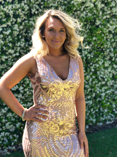Golden Vibes - Sequin Dress