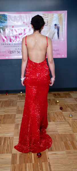 RED Sequins - Mermaid Gown