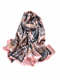 Oversized  silk scarves pink