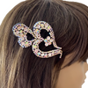 Women's Large Faceted Rhinestone Plastic Alligator Hair Clips