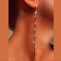 Women's Earrings Hanging Style Copper Silver Wrap - FREE SHIPPING USA - Wild Time Fashion