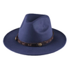 Wide Brim Fedora Brown Leather Band Silver Hardware Hat