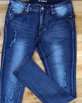Women's Distressed Denim Jeans Skinny - FREE SHIPPING USA - Wild Time Fashion