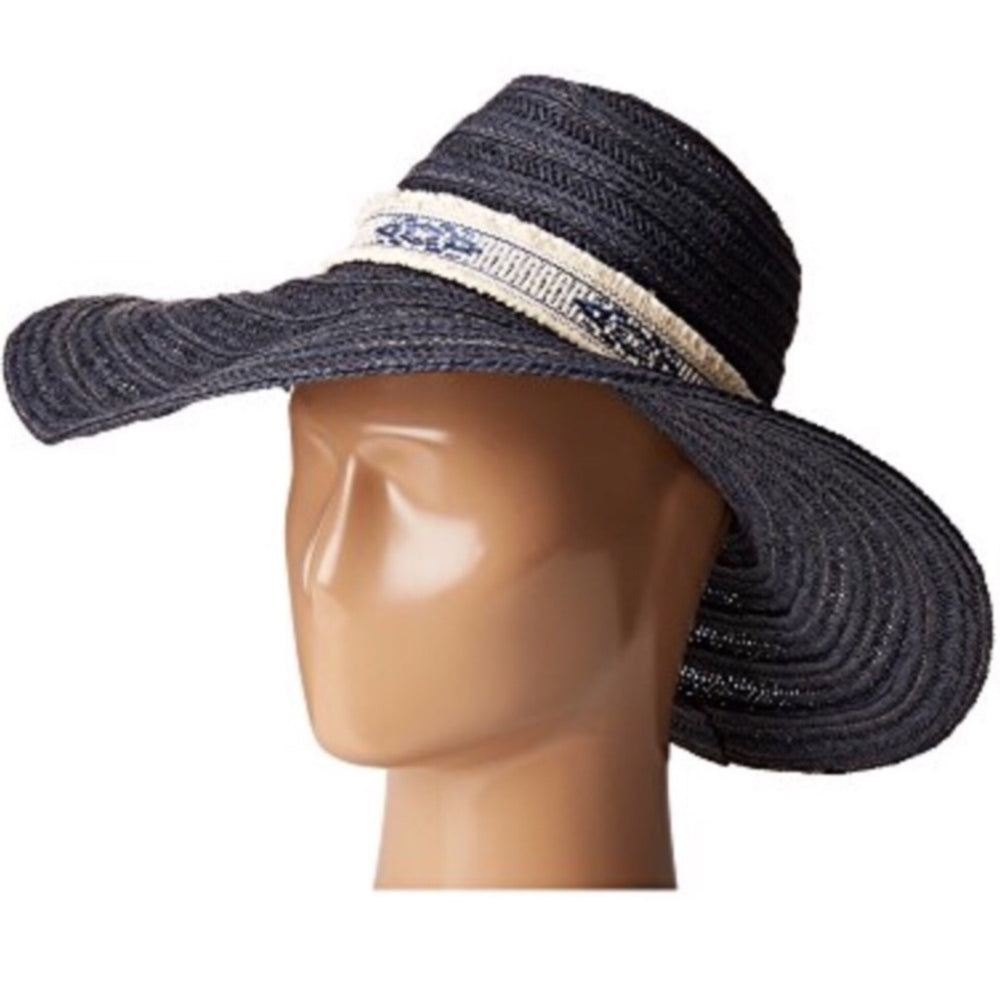 Women's Wide Brim Floppy Hat Navy Summer Accessory QUICK SHIP USA