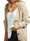 Cardigan Sweater Knit Button Up Layering Coverup - FREE SHIPPING USA - Wild Time Fashion