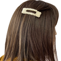 Women's Hair Accessory Large Ivory Pearl Clip In Barrettes