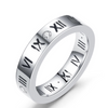 Women's Stainless Steel Ring Roman Numeral Silver - Wild Time Fashion