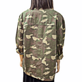 Women's relax fit utility jacket large Camo military khaki colored lightweight