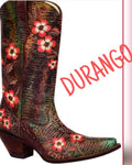 Durango Leather Western Cowboy Boots Floral Embroidery 7.5 QUICK SHIP USA - Wild Time Fashion